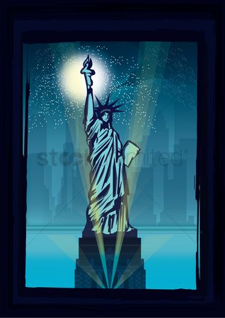 Sculpture : Statue of liberty poster