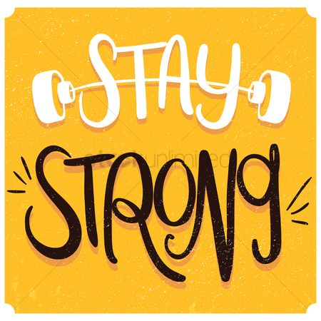 Dumb bell : Stay strong typography design