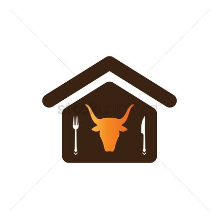 Bull : Steak house icon