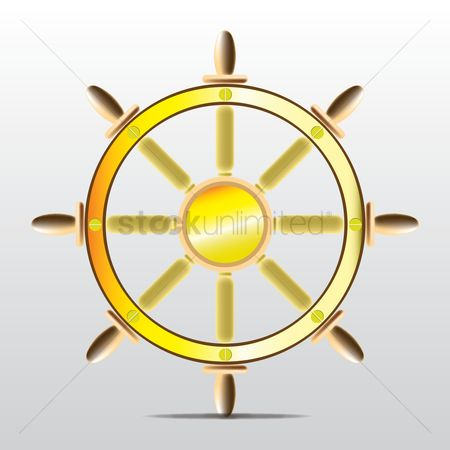 Nautical : Steering wheel of ship