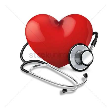 Hospital : Stethoscope with heart
