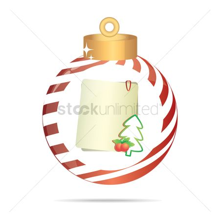 Sticky note : Sticky notes in a christmas bauble