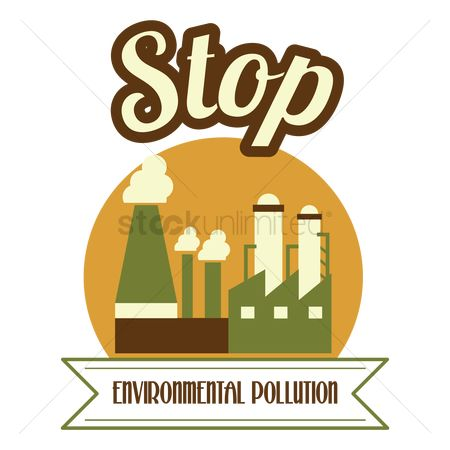 Pollutions : Stop environment pollution label