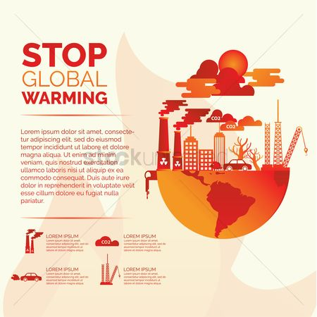 Pollution : Stop global warming concept