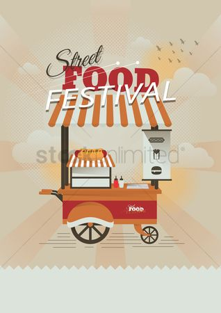 Hotdogs : Street food festival design