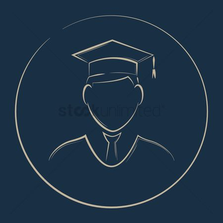Success : Student with mortarboard