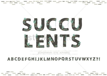 Typographics : Succulent inspired letter collection