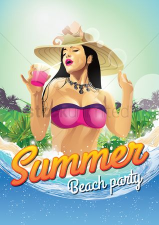 Alcohols : Summer beach party