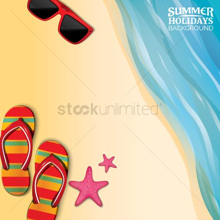 Footwear : Summer holiday background