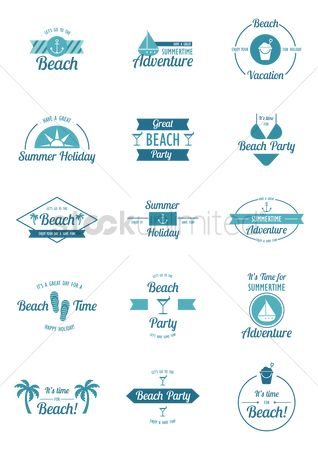 Swimsuit : Summer holiday design element set