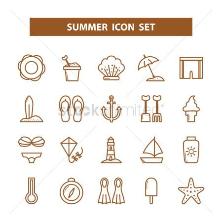 Nautical : Summer icons