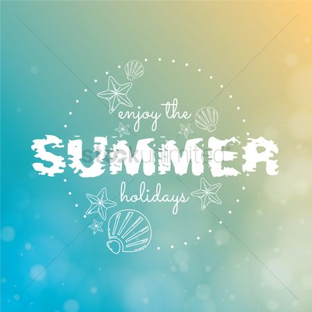 Starfishes : Summer typography