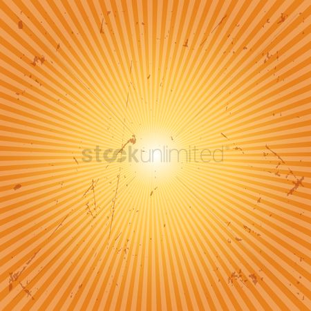 Graphic : Sunburst grunge background