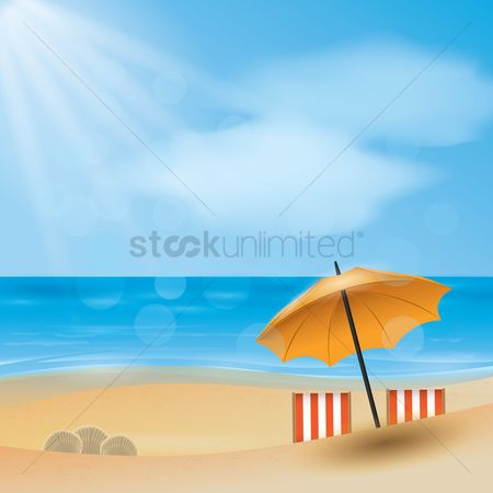 Plastics : Sunny day by the beach