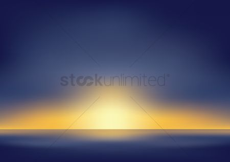 Cloud : Sunset landscape