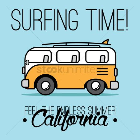 California : Surfing time design