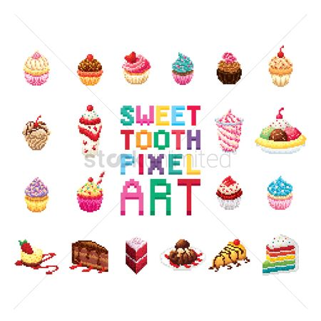 Flavor : Sweet tooth pixel art collection