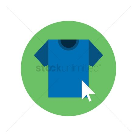 E commerces : T-shirt with arrow cursor