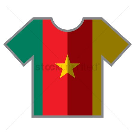 Tshirt design : T-shirts with cameroon flag design