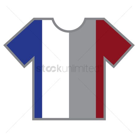 Tshirt design : T-shirts with france flag design