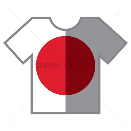 Tshirt design : T-shirts with japan flag design