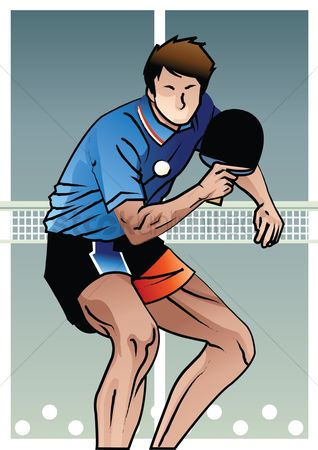 Paddle : Table tennis player in action