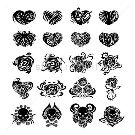 Hearts : Tattoo collection