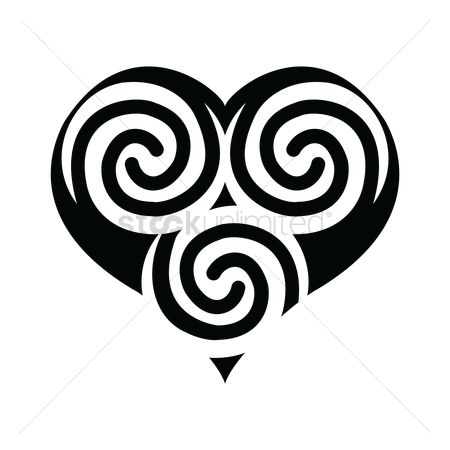 Heart shape : Tattoo design