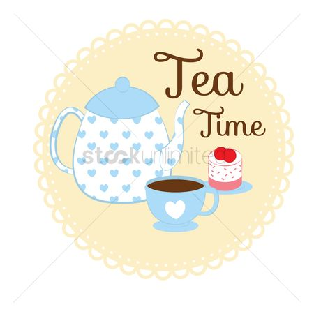 Teapot : Tea time card