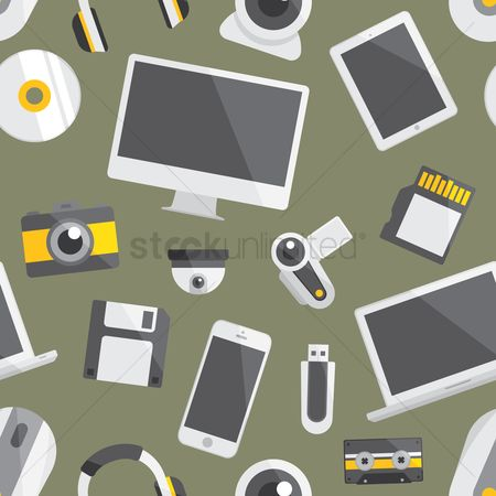 Pendrive : Technological item background