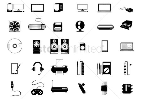 Chip : Technology icons collection