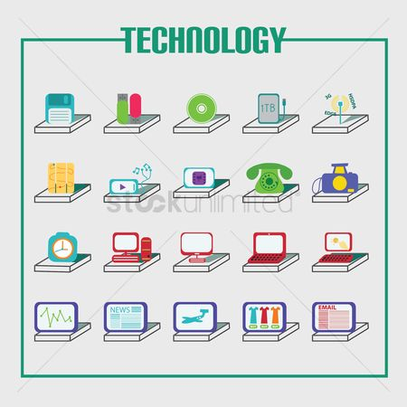 Icons news : Technology icons