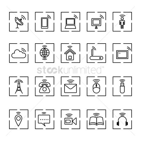 Wifi : Technology icons