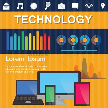 Places : Technology infographic