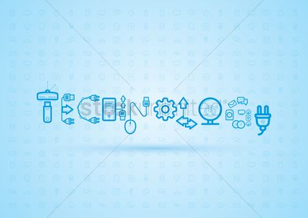 Interact : Technology lettering design