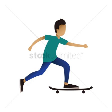 Skateboard : Teenage boy with skateboard