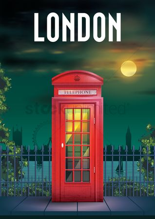 Red : Telephone box poster