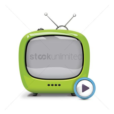 Tv : Television with play button
