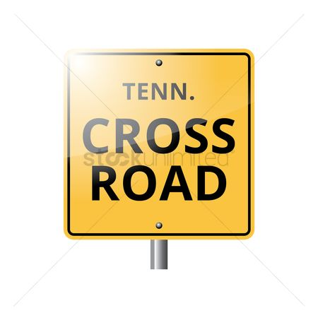 Tennessee : Tennessee crossroad sign