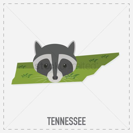 Tennessee : Tennessee map sticker