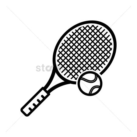 Racket : Tennis ball with racket