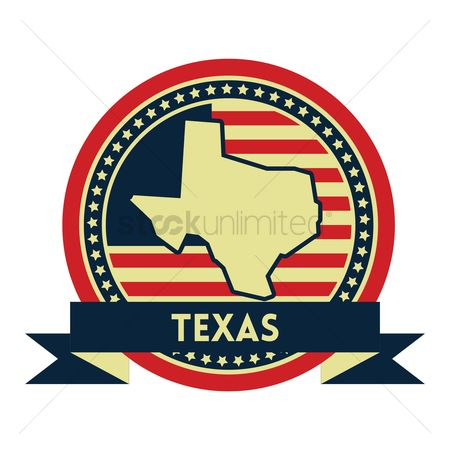 Patriotics : Texas map label