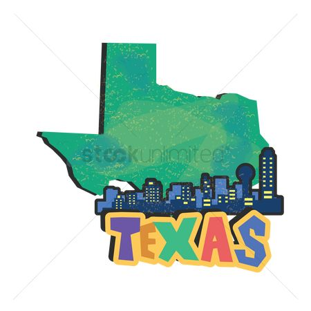 Cartography : Texas state map