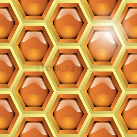 Honeycomb : Textured background with honeycomb pattern