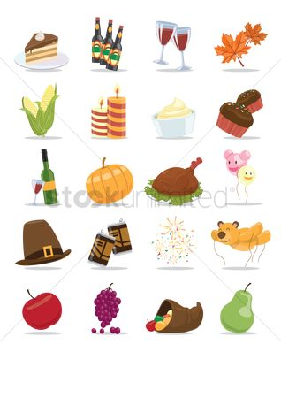 Beer : Thanksgiving icon set
