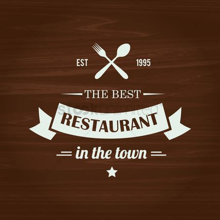 Fork : The best restaurant in the town text