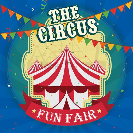 Tents : The circus poster design