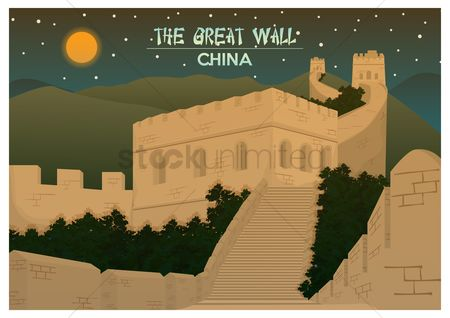 Attractions : The great wall china