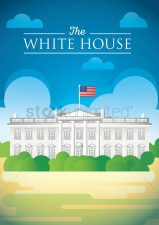 White house : The white house poster