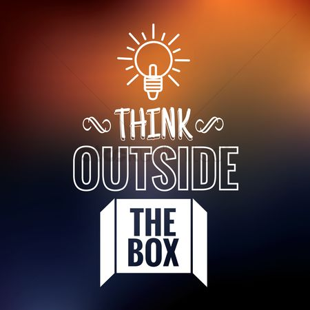Boxes : Think outside the box quote